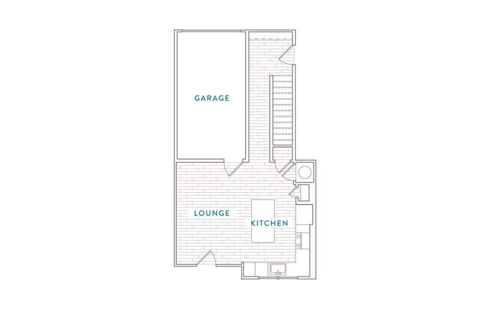B4MS - 2 bedroom floorplan layout with 2 baths and 1174 square feet. (Floor 1)