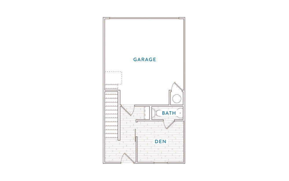 B5MS - 2 bedroom floorplan layout with 2.5 baths and 1731 square feet. (Floor 1)